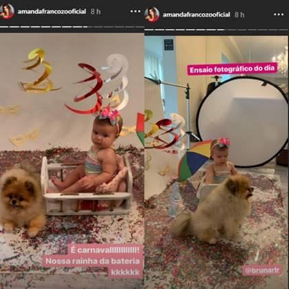 Vitória filha de Amanda Francozo reprodução Instagram.3