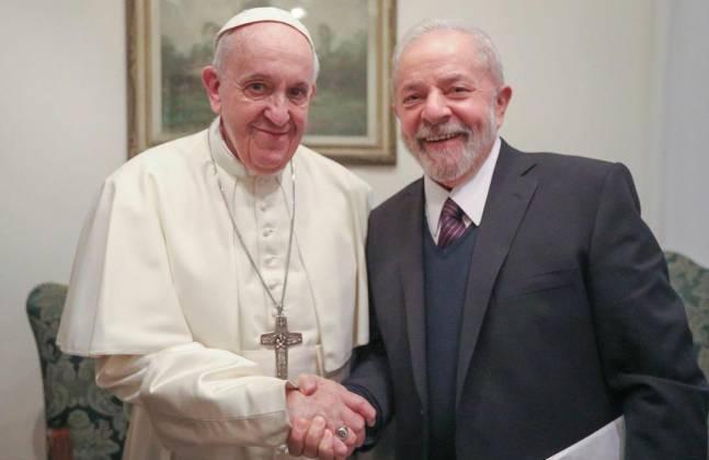 Lula e Papa Francisco - Reprodução: Instagram