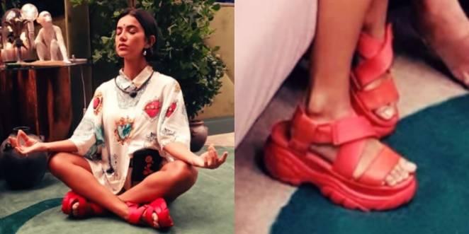 A sandália vermelha de Manu Gavassi é da grife Buffalo (Foto: Reprodução/Instagram @manugavassi)