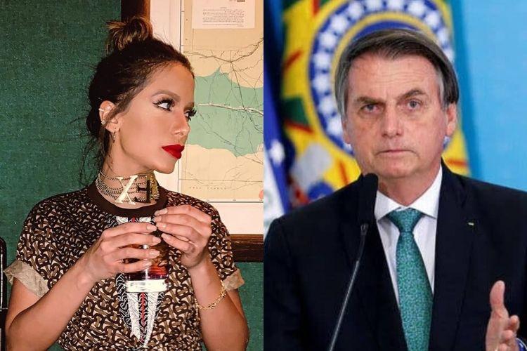 Anitta e o presidente Jair Bolsonaro - Reprodução: Instagram