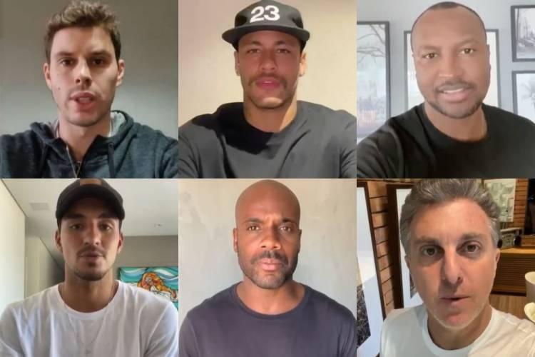 Coronavírus: Neymar, Thiaguinho, Huck e amigos da 'Diretoria' anunciam doações