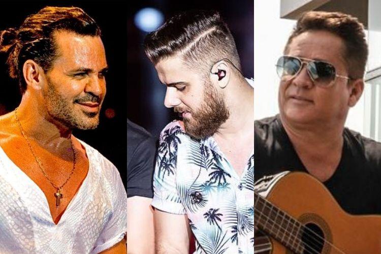Eduardo Costa, Zé Neto e o sertanejo Leonardo, alguns dos destaques do resumo - Reprodução: Instagram (Montagem: Área VIP)