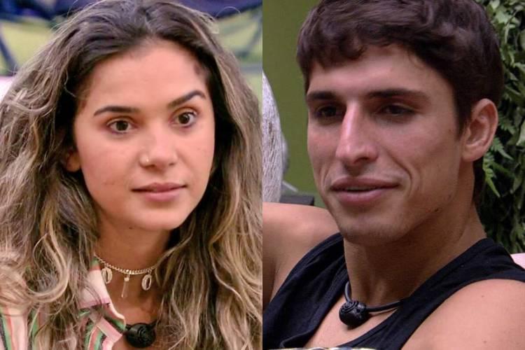 """BBB20: """"Não gosto do seu jogo, mas gosto do seu beijo"""", diz Gizelly para Felipe"""