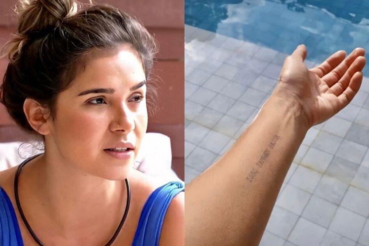 """Mãe de Gizelly, do 'BBB 20', explica origem de tatuagem da sister: """"Isso também passa"""""""