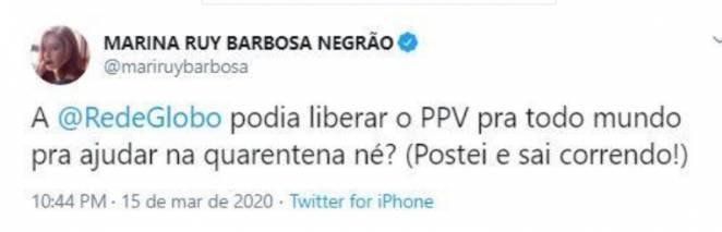 Marina Ruy Barbosa foto Twitter