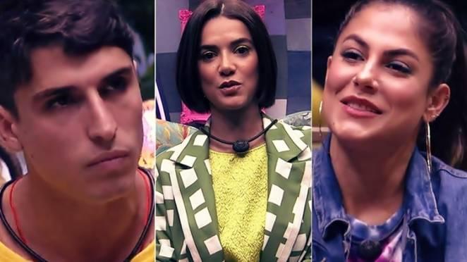 Prior, Manu e Mari estão no décimo paredão Imagem: Reprodução/TV Globo