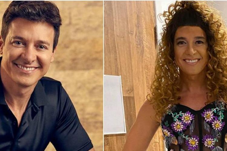 "Rodrigo Faro se fantasia de Anitta e brinca: ""Por que choras?"""