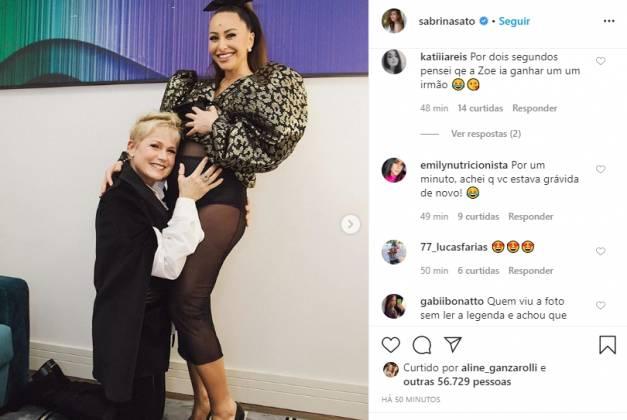 Sabrina Sato e Xuxa Menghel reprodução instagram