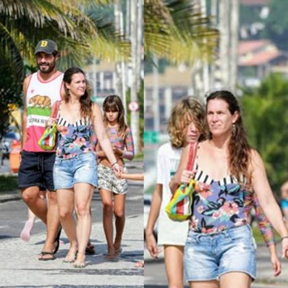 Thiago Lacerda e Vanessa Lóes e as filhas foto Dilson Silva.2