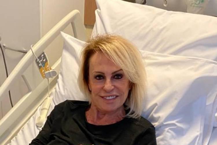 Ana Maria Braga é surpreendida durante quimioterapia no hospital