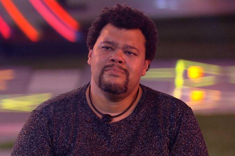 Babu Santana, que foi às lágrimas durante a festa - Reprodução: Globoplay