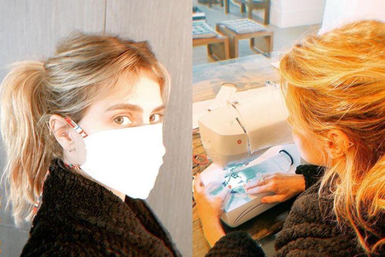 Combate ao coronavírus! Carolina Dieckmann está produzindo máscaras para doação