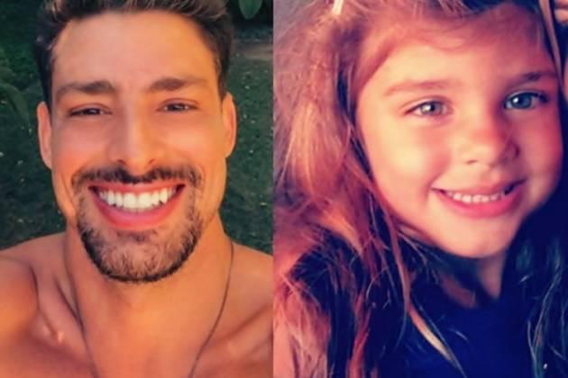 Filha de Cauã Reymond e Grazi Massafera dorme com o papai - Reprodução / Instagram