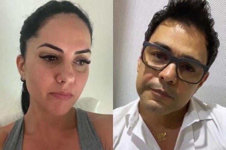 Graciele Lacerda e o cantor sertanejo Zezé di Camargo, o seu noivo - Reprodução: Instagram (Montagem: Área VIP)