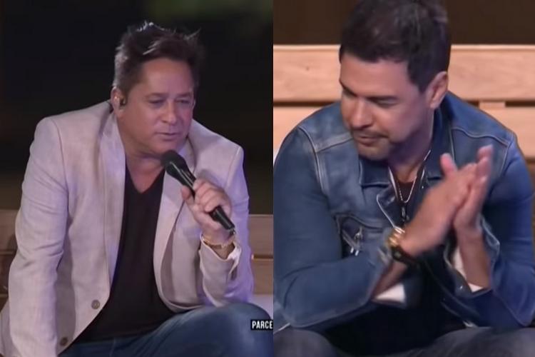 Durante live, suposto problema vocal dos sertanejos Leonardo e Zezé Di Camargo vem à tona