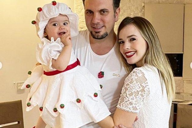 Liz, Fábio Elias, e Thaeme Mariôto reprodução Instagram