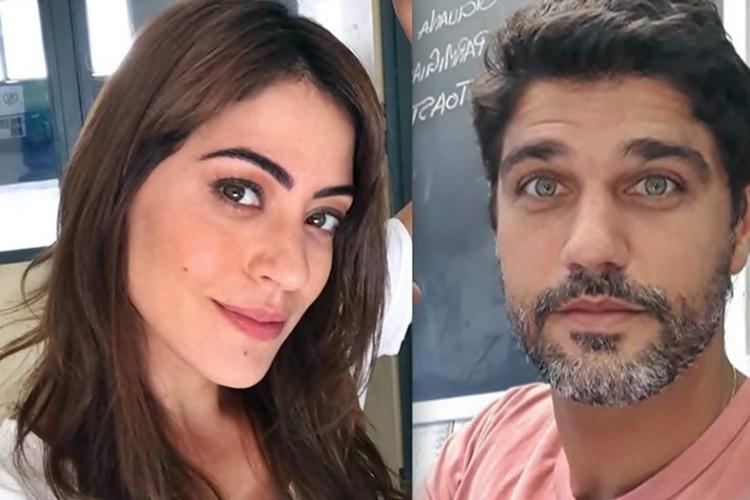 Carol Castro dá um flagra no namorado, Bruno Cabrerizo, durante a quarentena