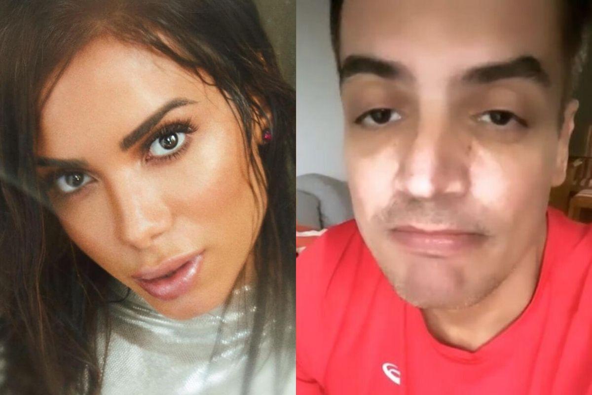 A cantora Anitta e o jornalista Leo Dias - Reprodução: Instagram