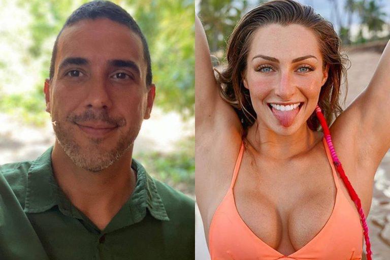 Namorada de André Marques se emociona com presente
