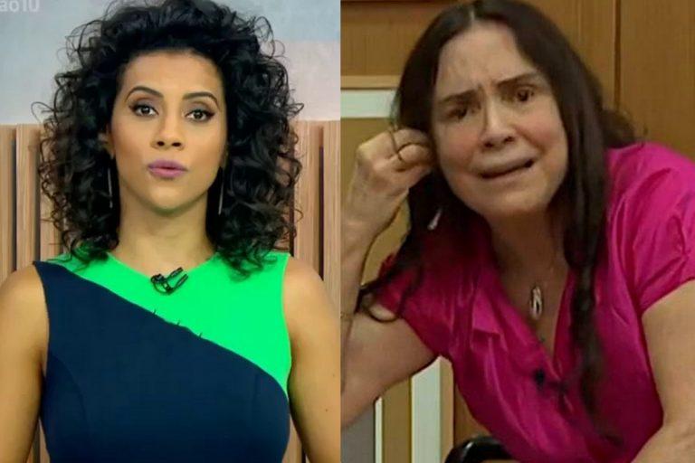 """Ao vivo, jornalista da GloboNews ironiza saída de Regina Duarte: """"Papel de coadjuvante"""""""