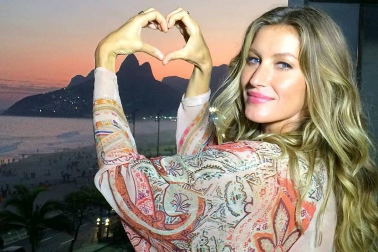"""Gisele Bündchen agradece após doações: """"Coração repleto de gratidão"""""""