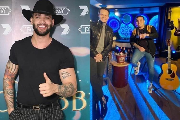 Sertanejo Gusttavo Lima invade live de amigos Matheus e Kauan para deixar recado