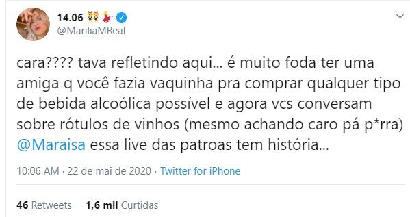 Marília Mendonça faz revelação sobre o passado de Maraisa