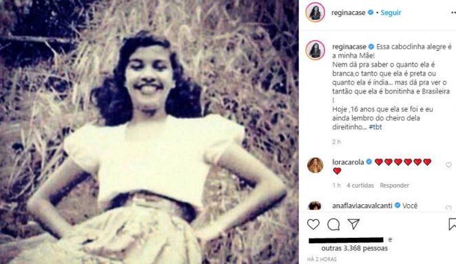 Regina Casé fala sobre a morte da mãe e surpreende com semelhança