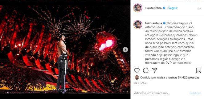 Luan Santana reprodução Instagram