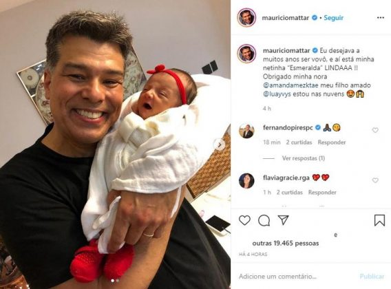 Maurício Mattar mostra clique inédito da neta; veja