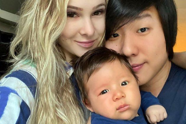E-xBBB Pyong Lee com Sammy e o filho, Jake — Foto: Reprodução/Instagram