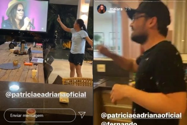 Sertaneja Maiara e sertanejo Fernando reprodução Instagram.1