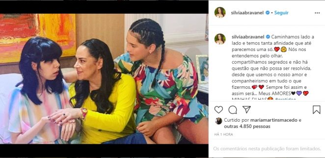 Silvia Abravanel e as filhas reprodução Instagram