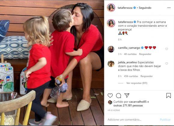 Thais Fersoza e filhos reprodução Instagram