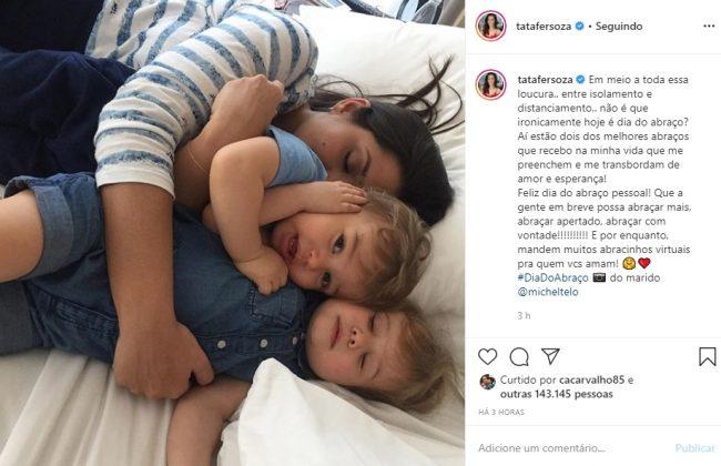 Thais Fersoza e os filhos reprodução Instagram