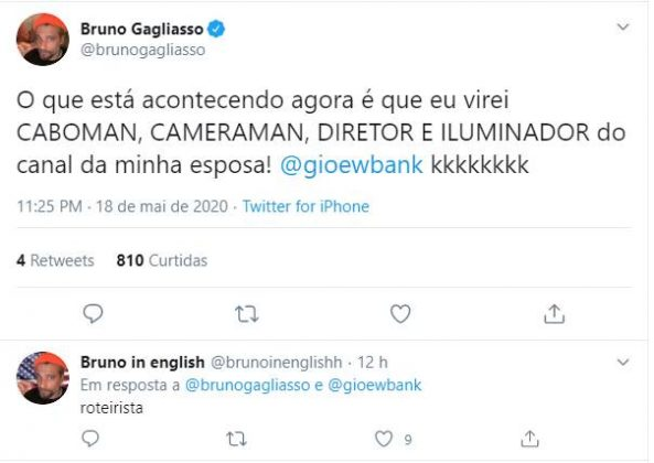 Bruno Gagliasso faz comentário sobre rotina com Giovanna Ewbank