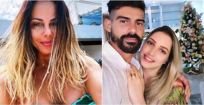 Viviane Araujo registrou queixa contra Caroline Furlan, atual de seu ex - Instagram/@araujovivianne/@radamesmartins