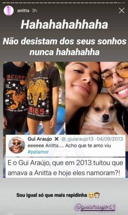 Namorado de Anitta já tinha interesse na cantora desde 2013