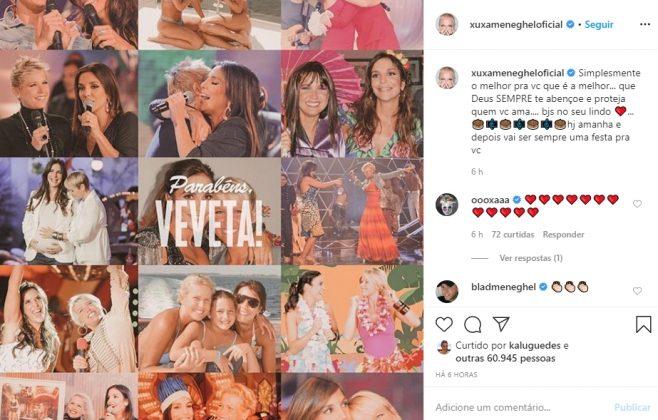 Xuxa Meneghel reprodução instagram
