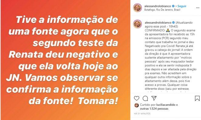 Alessandro Lobianco reprodução Instagram