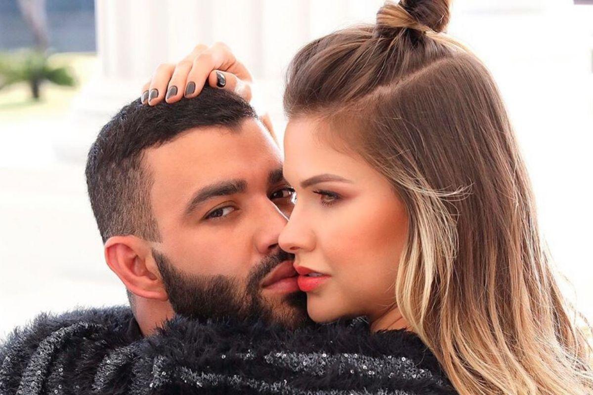Andressa Suita e o cantor sertanejo Gusttavo Lima - Reprodução: Instagram