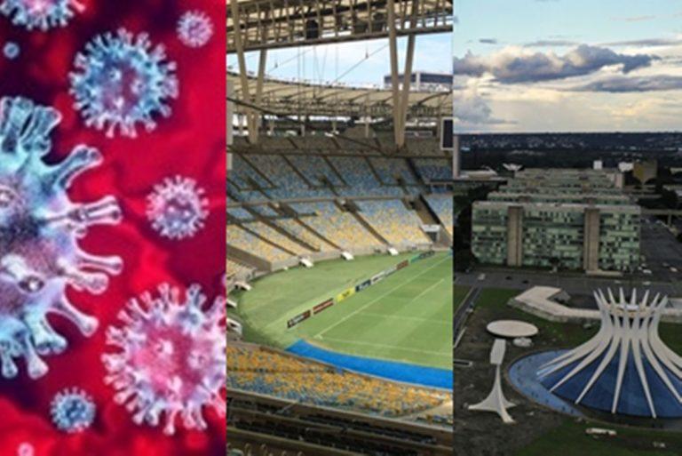 Hoje no Brasil: País registra 1.282 novas mortes de Covid-19, Volta do futebol no Rio tem impasse e Esplanada dos Ministérios é fechada em Brasília