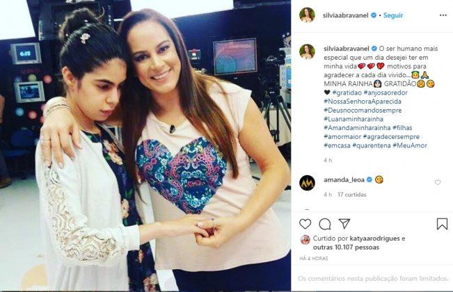 Silvia Abravanel e filha reprodução Instagram