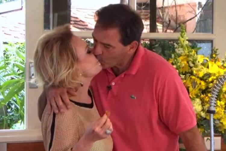 Ana Maria Braga é surpreendida com atitude do marido durante o 'Encontro'