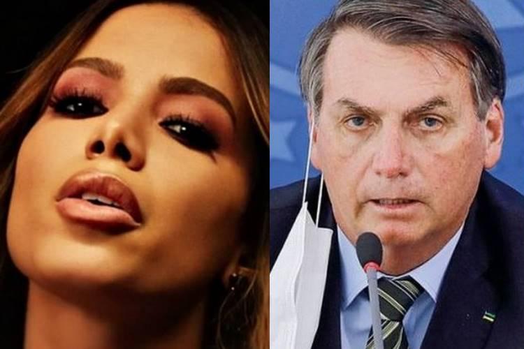 Anitta rasga o verbo contra Bolsonaro e detona medidas de combate ao coronavírus