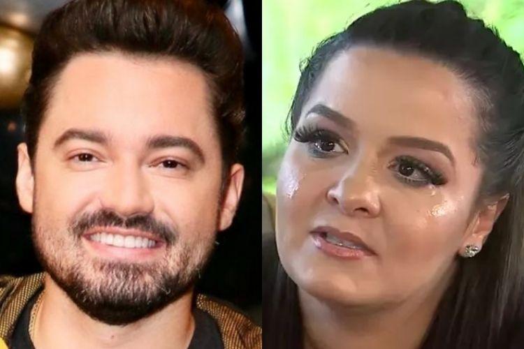 Fernando Zor e a sua ex, a cantora sertaneja Maiara - Reprodução: Instagram e SBT (Montagem: Área VIP)