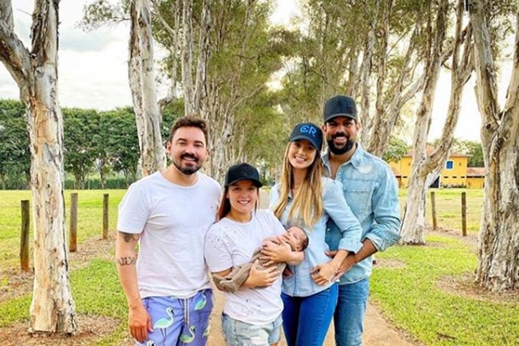Maiara e Fernando Zor encantam a web em click com filho de Sorocaba