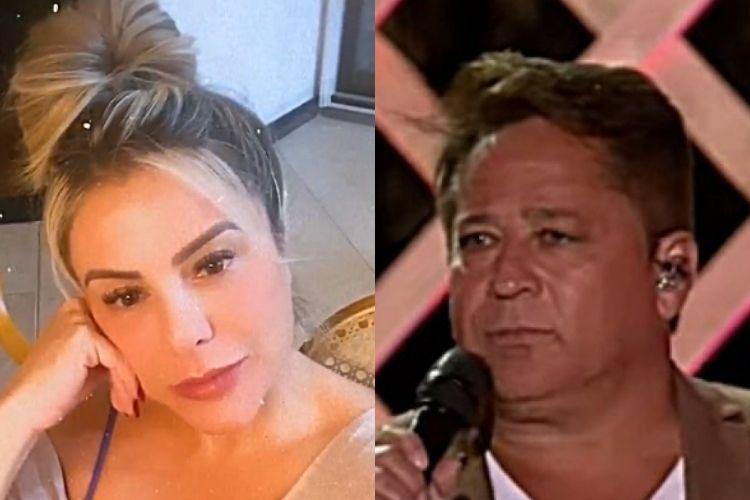 A jornalista Poliana Rocha e Leonardo - Reprodução: Instagram (Montagem: Área VIP)