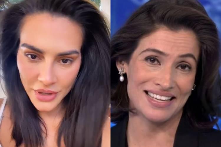 Cleo mostra cabelo inspirado em Renata Vasconcellos e manda recado à jornalista
