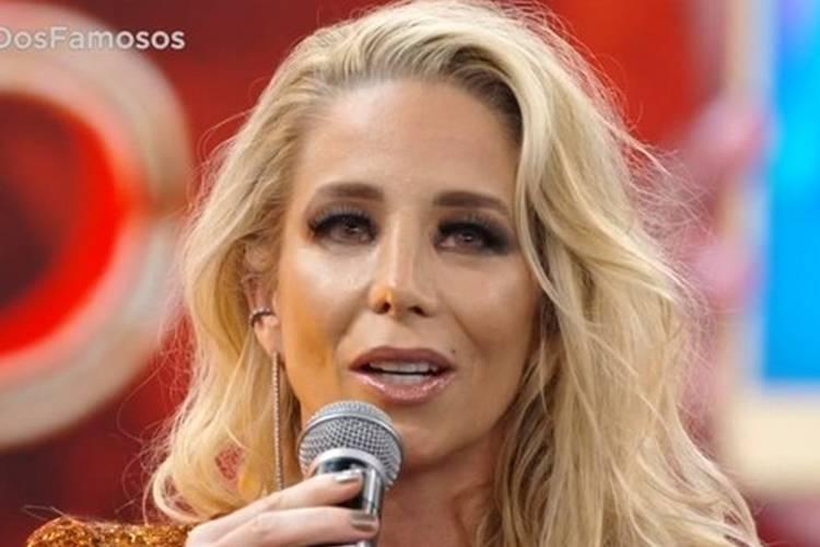 Atriz Danielle Winits no 'Show dos Famosos' - Reprodução/Globo